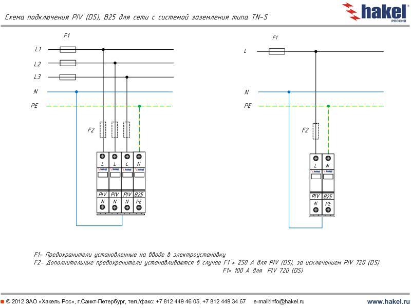 схема подключения для сетей с