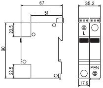 Габаритный чертеж SPC1.1 150 (DS) 60, 110 В
