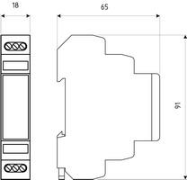 Габаритный чертеж DTR 485/12 G