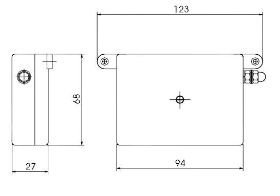 Габаритный чертеж DTB 2/100M 5cat