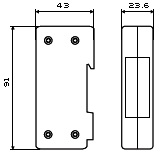 Габаритный чертеж HAKELNET 4/250M 6cat/48 V